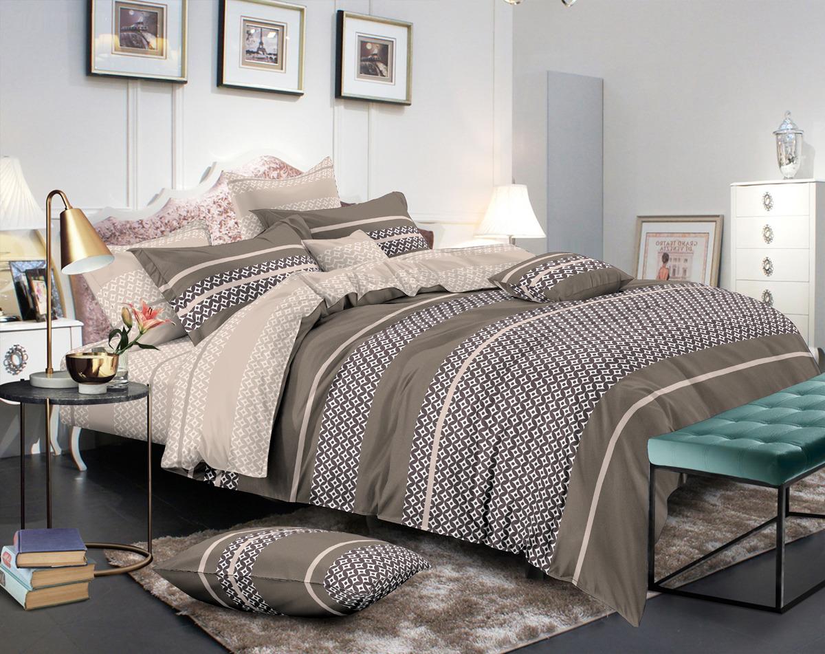 Комплект постельного белья Amore Mio Gold Frederick, евро, наволочки 50x70, 70x70