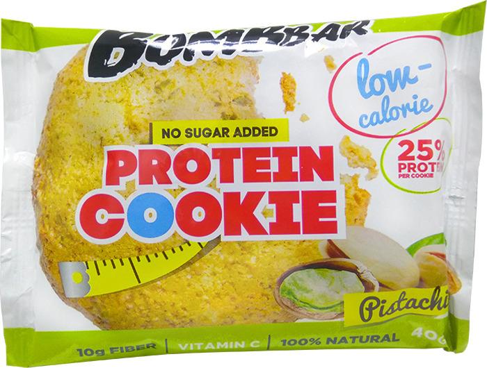 Протеиновое печенье Bombbar, низкокалорийное, фисташка, 40 г