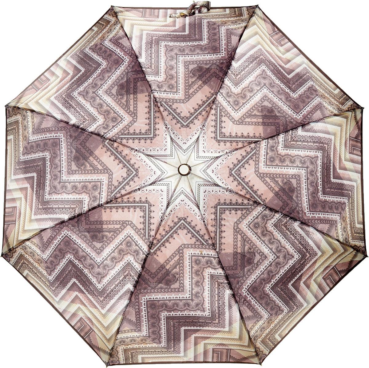 Зонт женский Fabretti, суперавтомат, 3 сложения, цвет: разноцветный. L-18115-7
