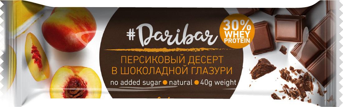 Фото - Протеиновый батончик Daribar, глазированный, персиковый десерт, 40 г поло print bar little dari