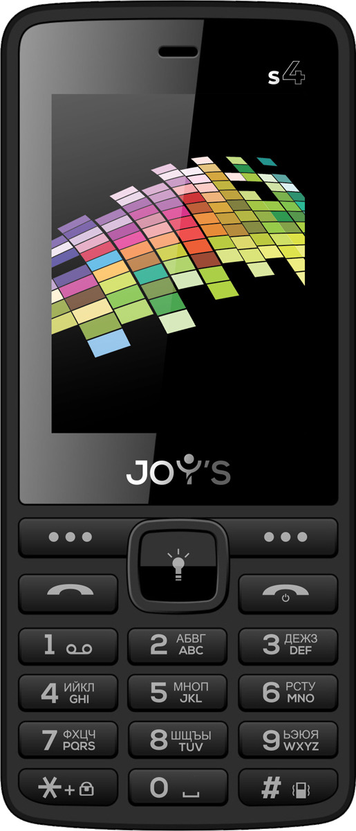 Мобильный телефон Joys S4 DS, черный мобильный телефон joys s3 ds black yellow черно желтый