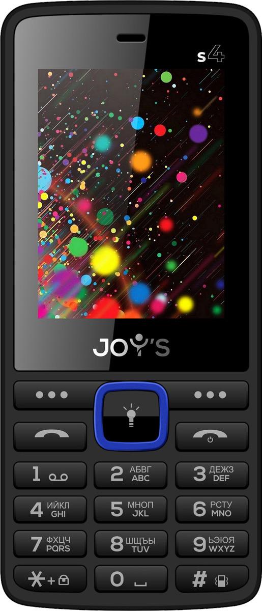 Мобильный телефон Joys S4 DS, синий мобильный телефон joys s3 ds black yellow черно желтый