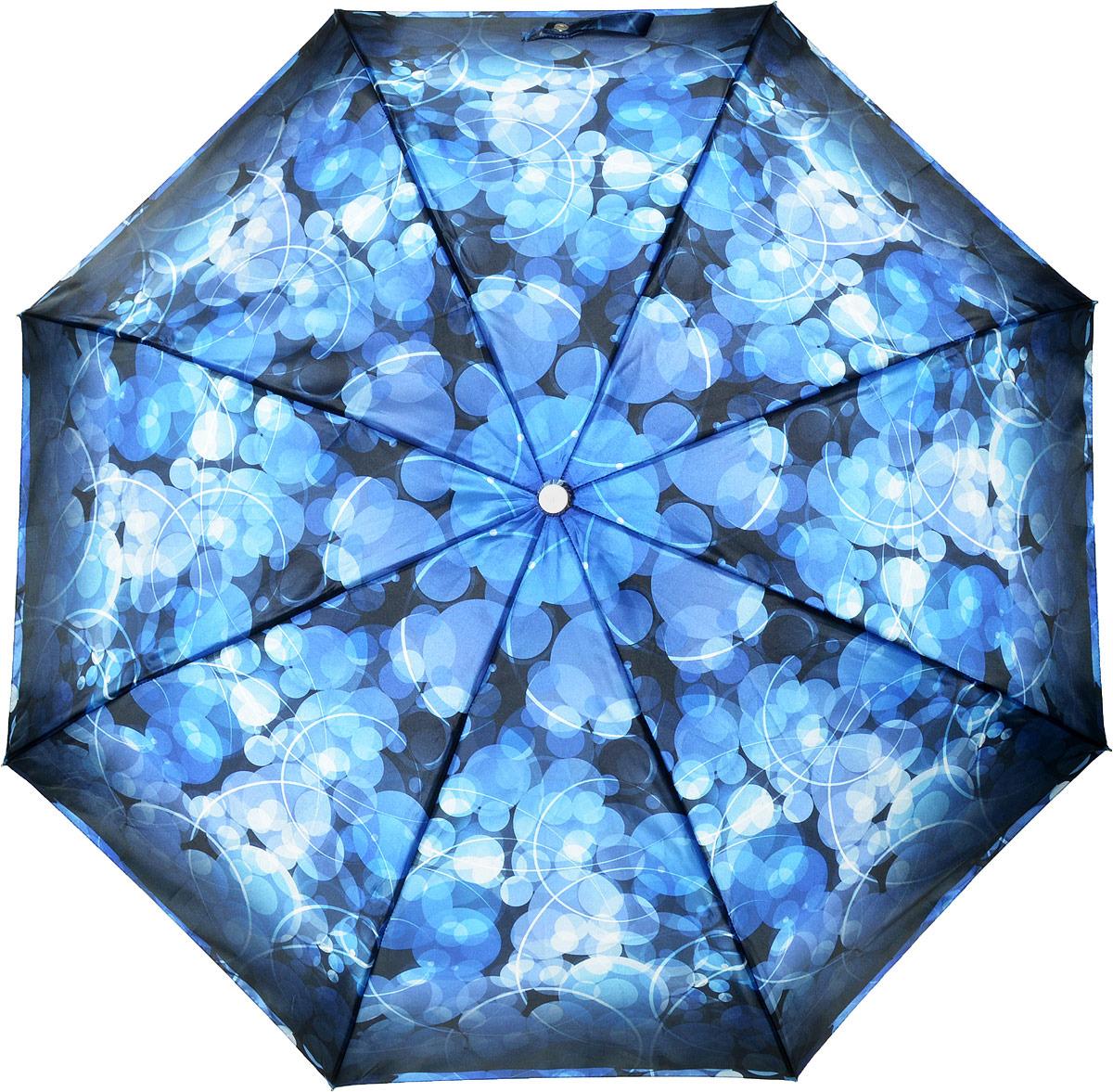 Зонт женский Fabretti, автомат, 3 сложения, цвет: синий. L-18114-6 зонт airton 3917 8028 полный автомат женский