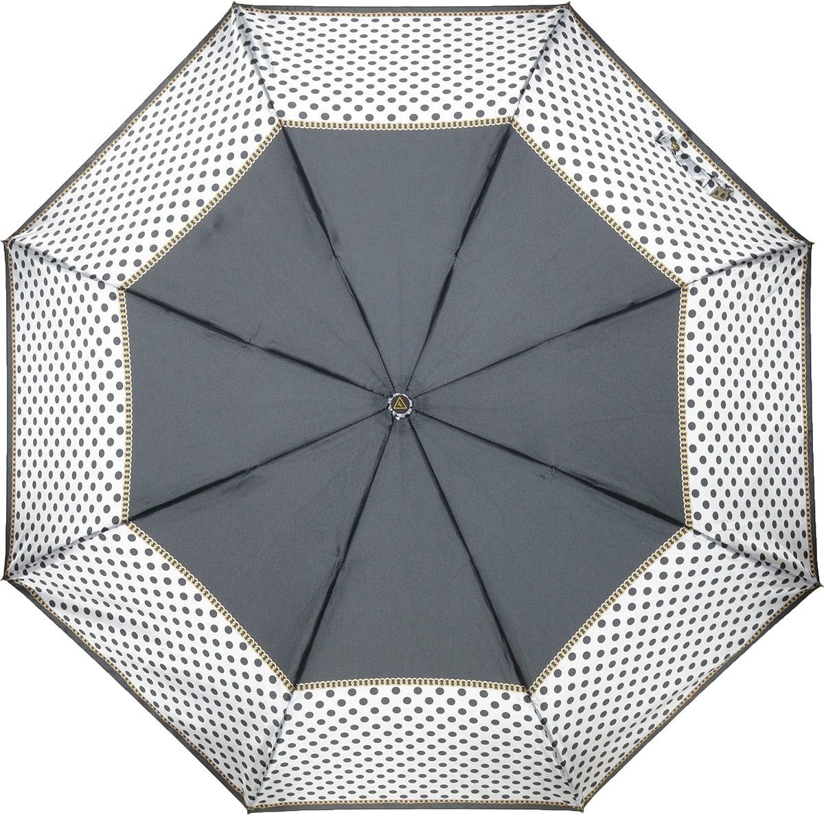 Зонт женский Fabretti, автомат, 3 сложения, цвет: черный. S-18103-6 цена и фото