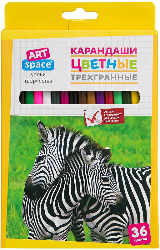 Набор цветных карандашей ArtSpace Животный мир, 245927, 36 цветов