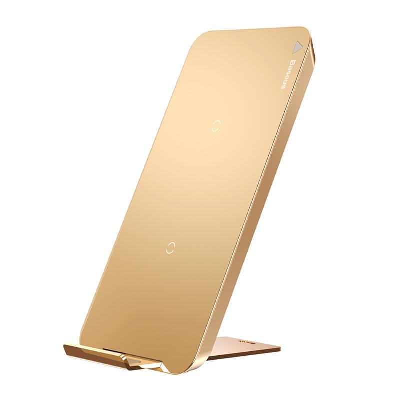 Фото - Беспроводное зарядное устройство Baseus WXHSD-0V, золотой беспроводное зарядное устройство chocolate wireless charger input dc 5 0v 2 0a 9 0v 1 67a