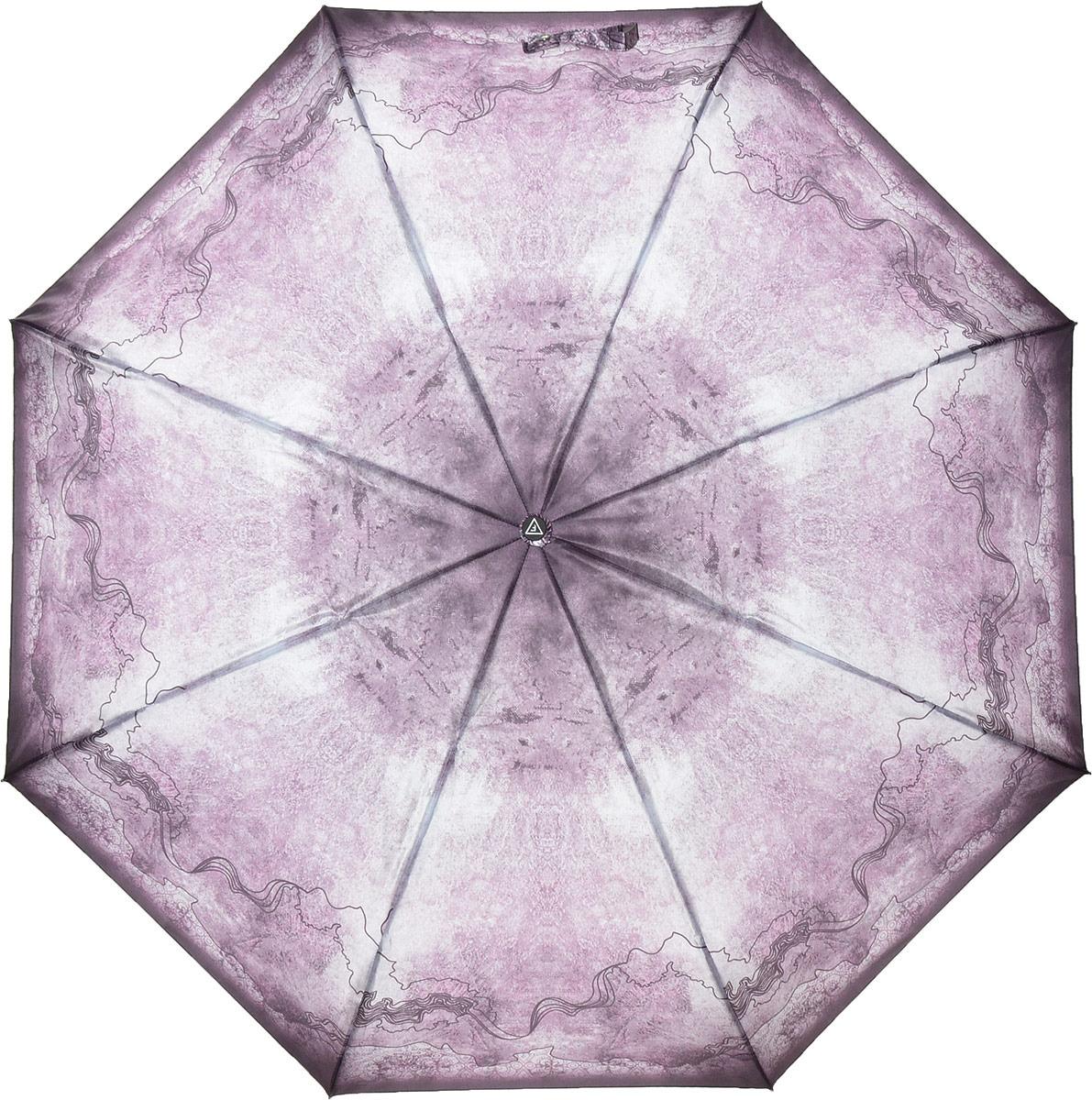 купить Зонт женский Fabretti, автомат, 3 сложения, цвет: розовый. S-18106-10 по цене 1031 рублей