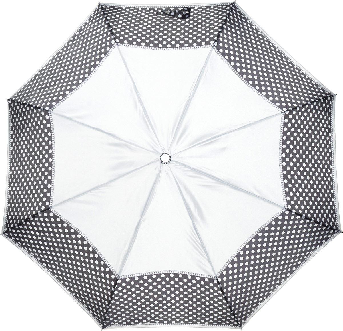 Зонт женский Fabretti, автомат, 3 сложения, цвет: серый. L-18117-1 цена и фото