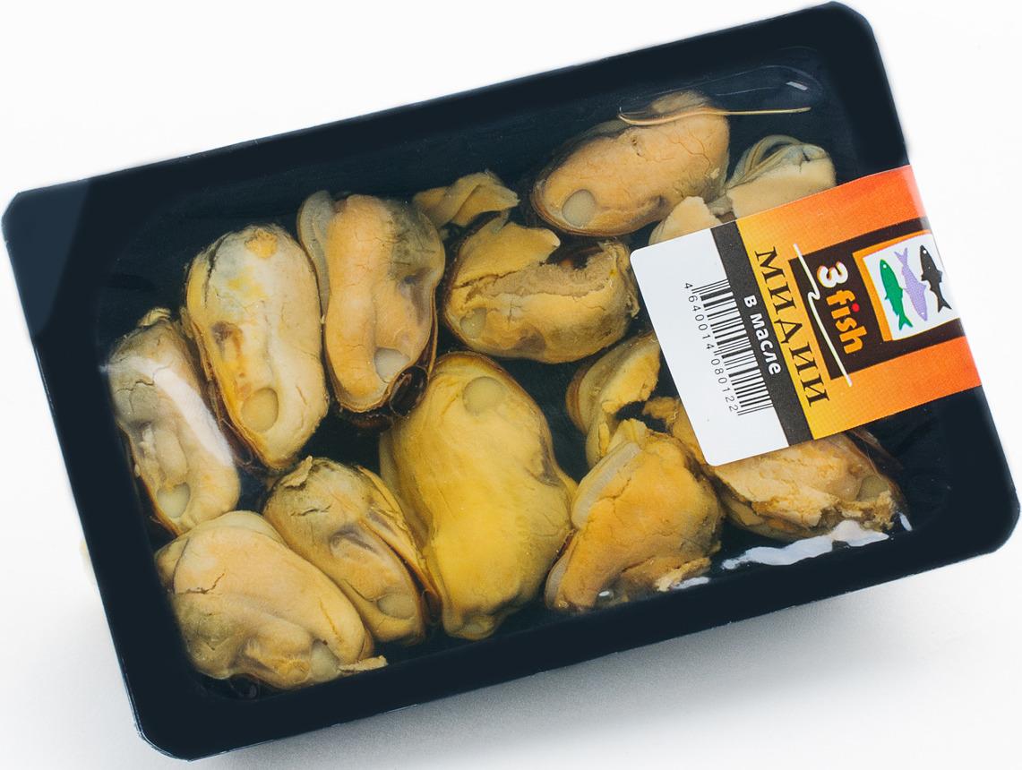 Мидии в масле 3fish, 150 г