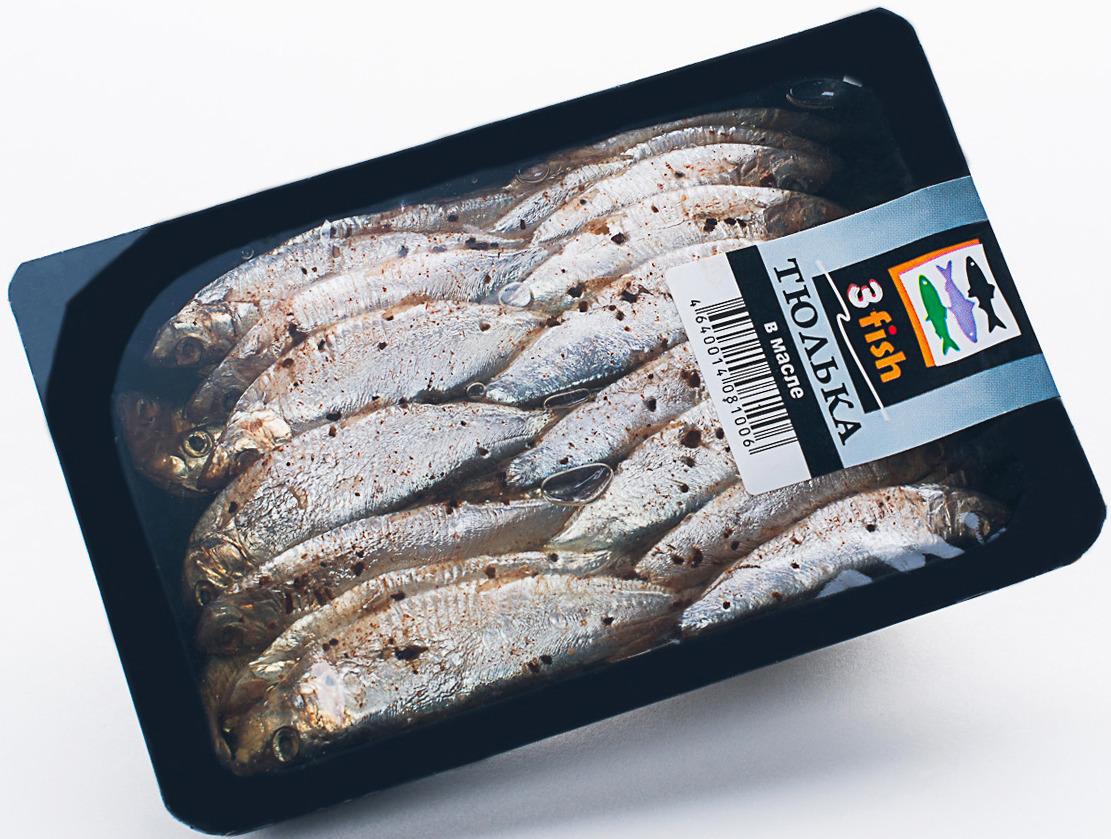 Тюлька пряного посола 3fish, в масле, 200 г