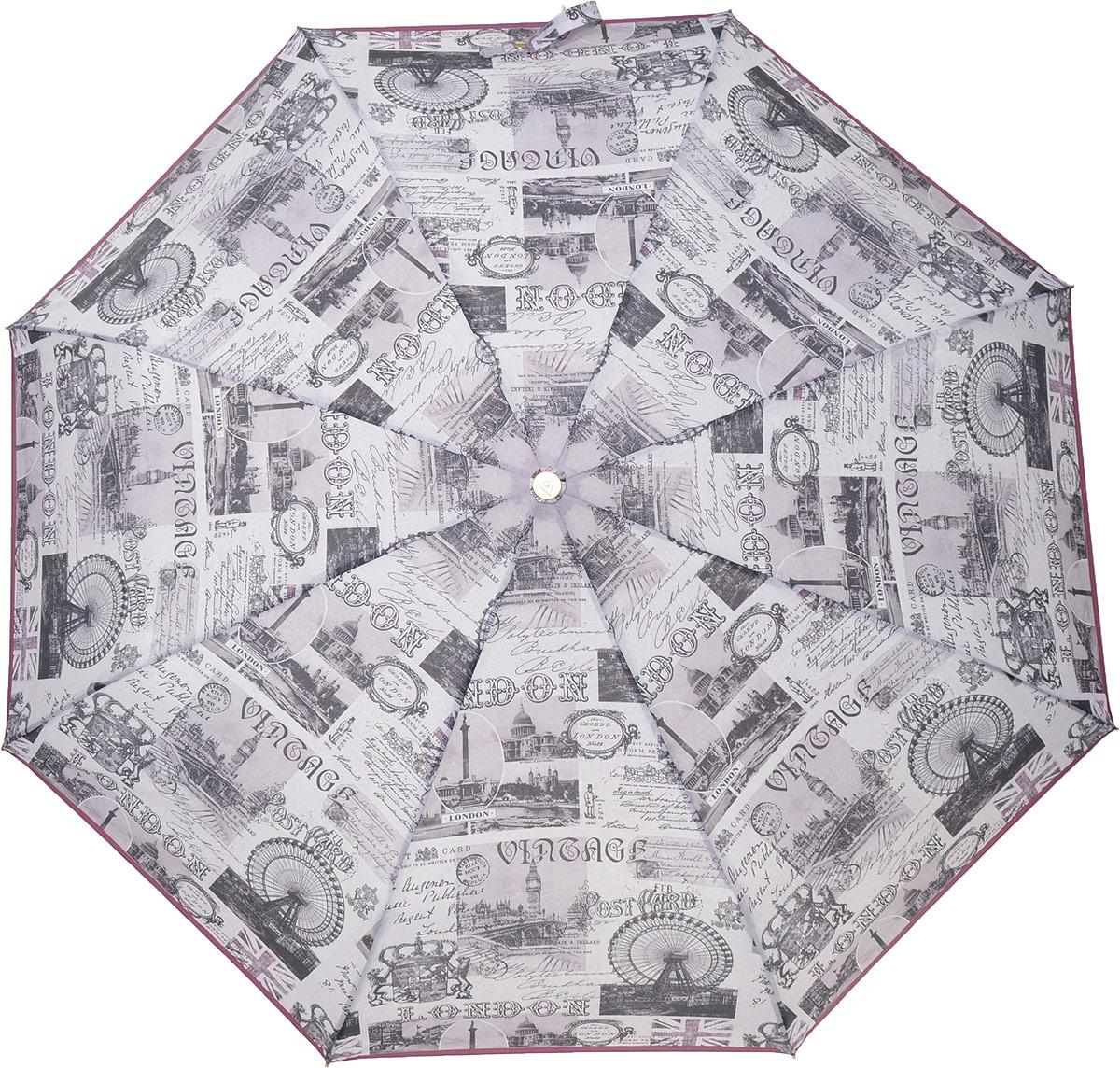 купить Зонт женский Fabretti, автомат, 3 сложения, цвет: розовый. L-18120-2 по цене 1031 рублей