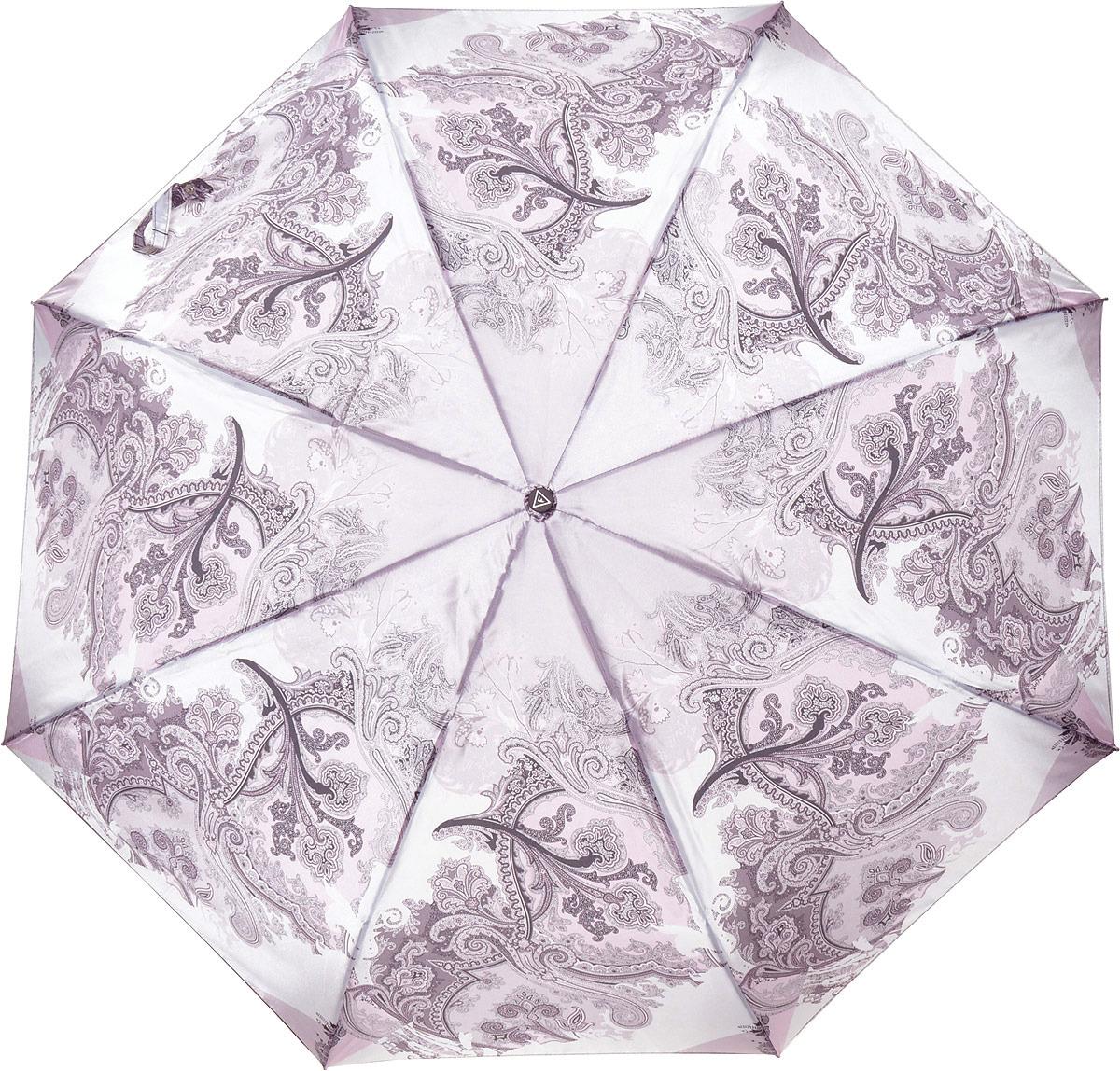 Зонт женский Fabretti, автомат, 3 сложения, цвет: розовый. S-18106-2 цена и фото