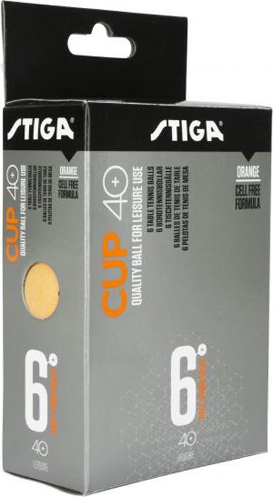 Шарики для пинг-понга Stiga Cup ABS, со швом, оранжевый, 6 шт цена