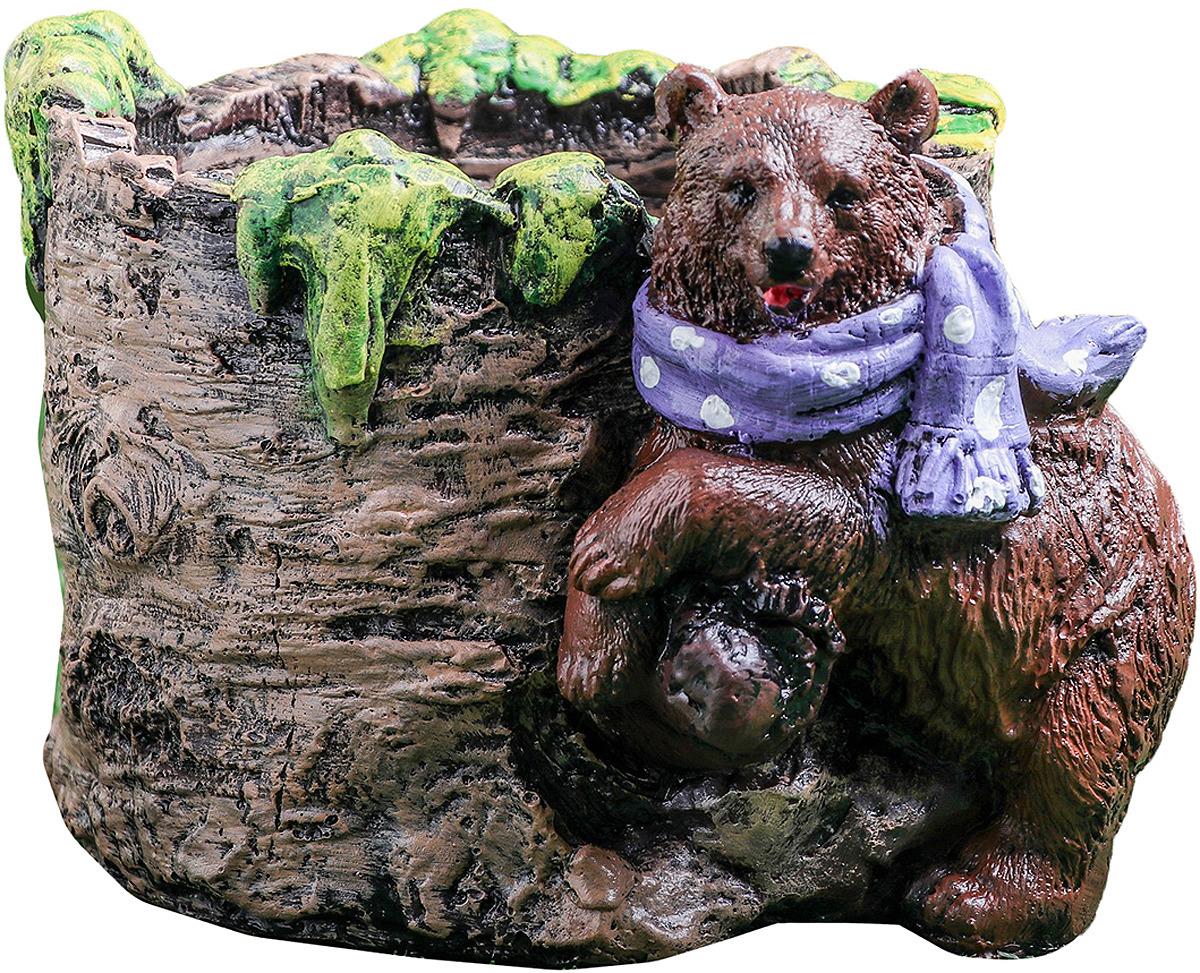 Кашпо Premium Gips Медведь, 39049423904942Кашпо подходит как для посадки комнатных растений, также можно использовать в качестве вазы для свежесрезанных цветов.