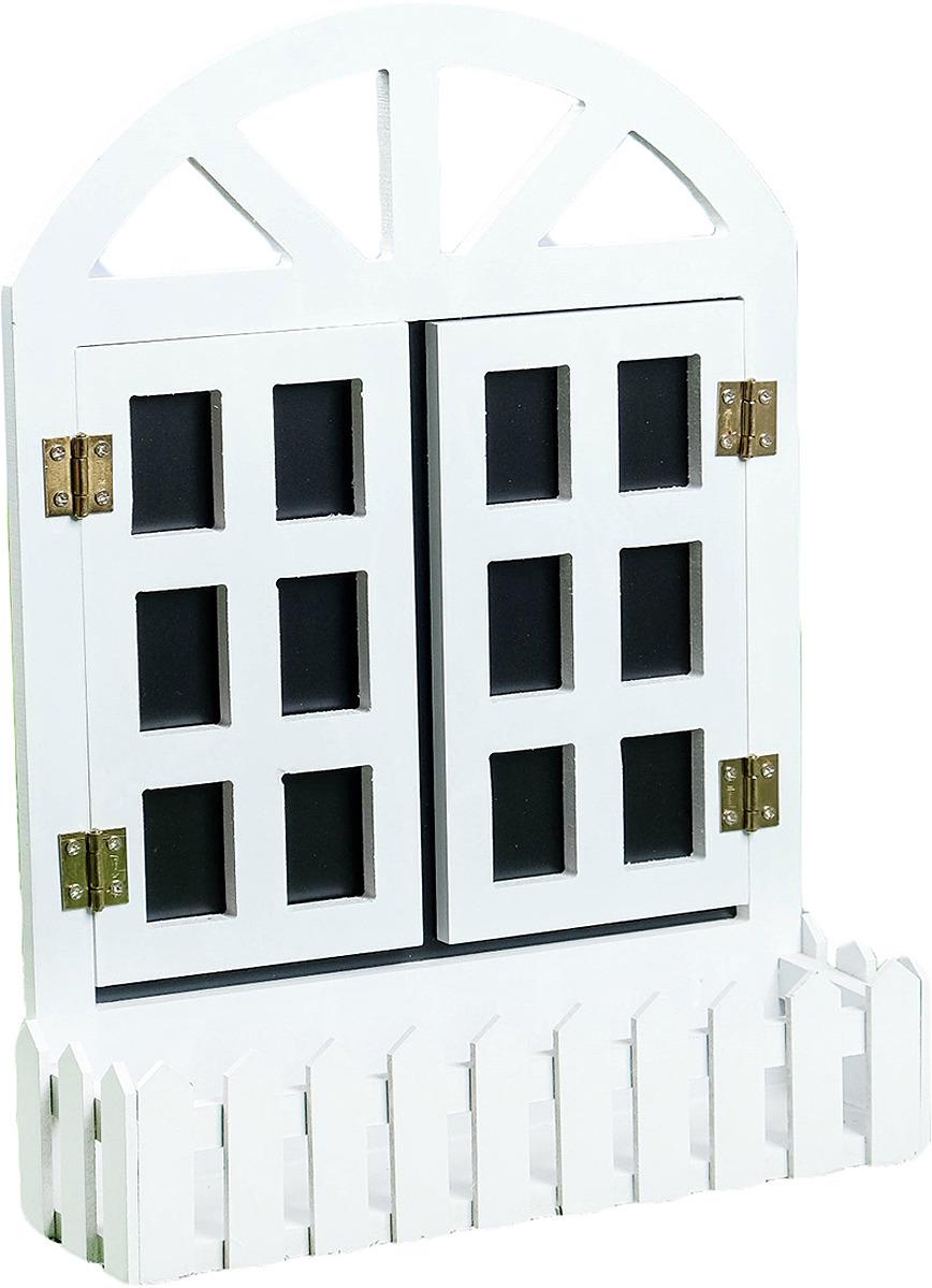 Кашпо Окно со ставнями, 3913101, 9 х 30 х 40 см кашпо для домашних растений umbra giardino цвет белый 34 х 16 х 34 см