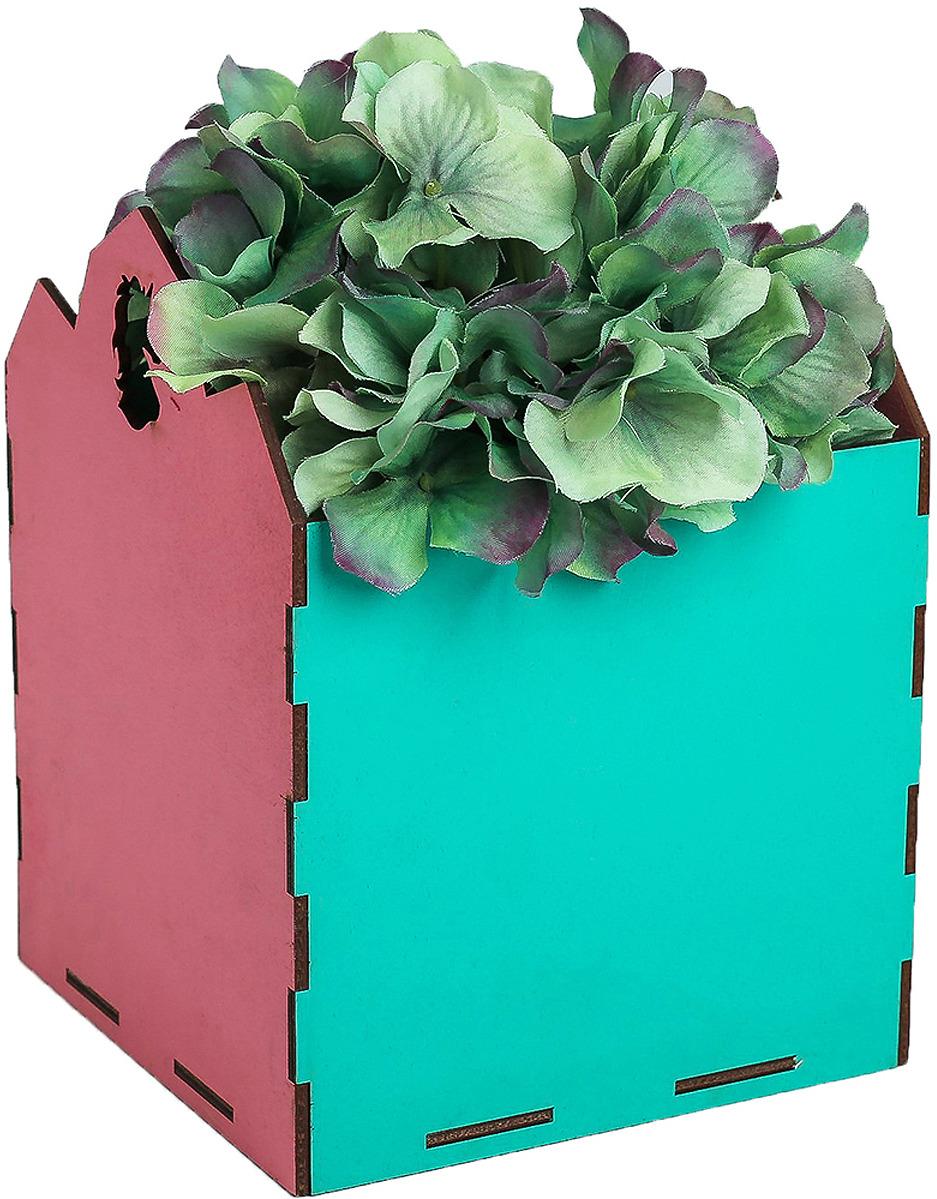 Кашпо флористическое Дарите Счастье, 4093948, розовый, бирюзовый, 14,5 х 14,5 х 18,5 см4093948Кашпо флористическое — новое решение для оформления букетов. Такая композиция выглядит оригинально и стильно. Упаковка удобна для переноски. При наличии флористической губки изделие можно использовать в качестве вазы. Кроме редкого полива и сбрызгивания растения не потребуют особенного ухода. Букет надолго сохранит свежесть и красоту.