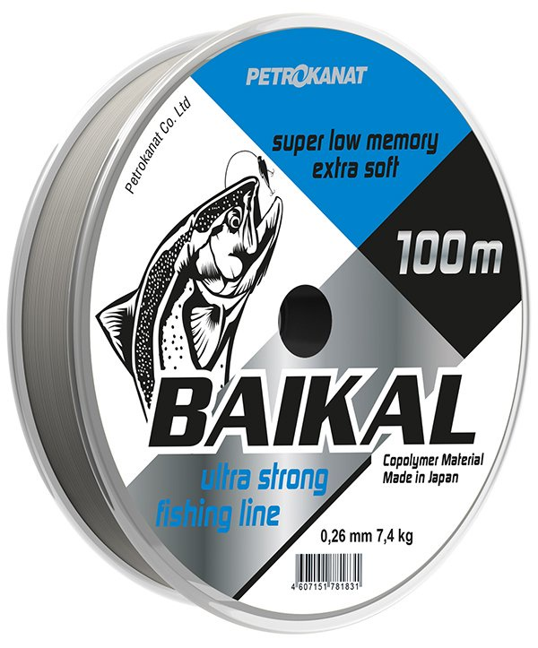 Леска для рыбалки Байкал УТ000030788, прозрачный