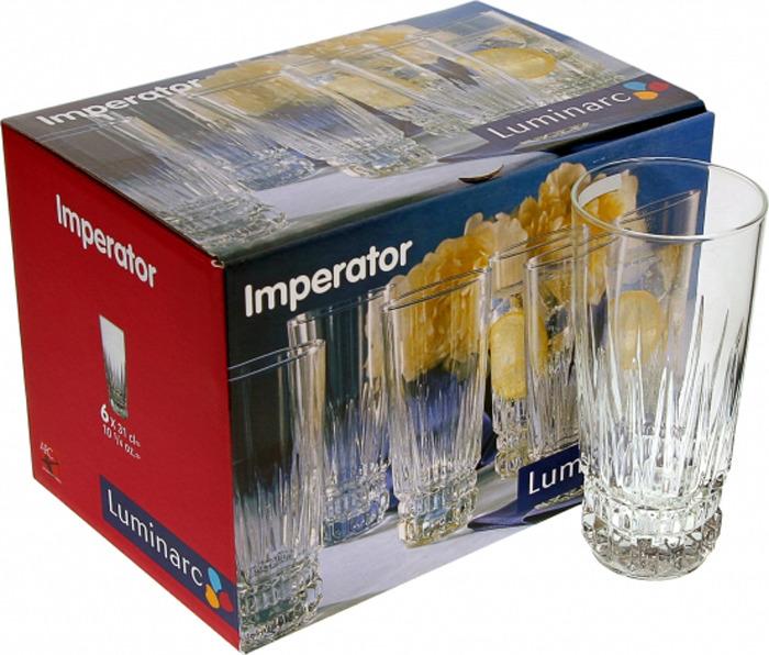 Набор стаканов Luminarc Император, высокие, C7234, 310 мл, 6 шт набор стаканов luminarc новая америка 350 мл 6 шт