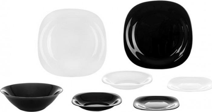 Набор столовой посуды Luminarc Карин Модерн, N1491, 19 предметов набор столовой посуды luminarc нью карин n2955 белый черный
