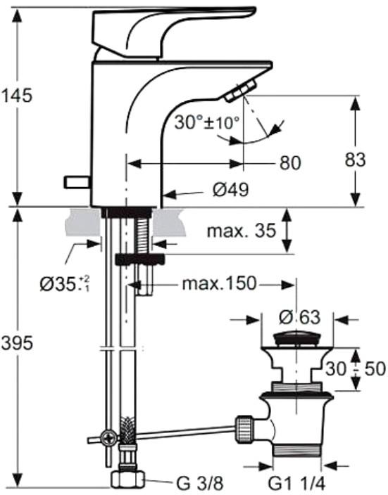Смеситель Ideal Standard Смеситель для раковины Ideal Standard