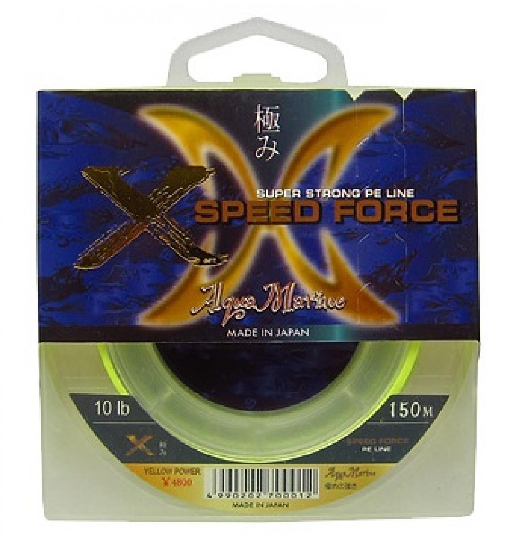 Плетеный шнур Aqua marine X SPEED FORCE, желтый