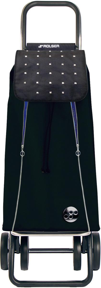 Сумка-тележка Rolser Dos+2, IMX014, черный, синий, 43 л чемодан тележка 72 см черный 2 колеса
