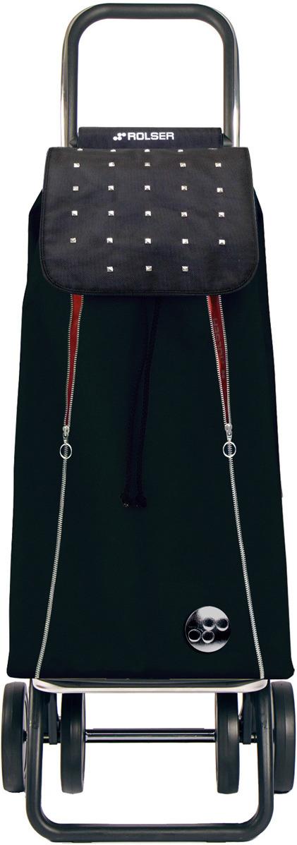 Сумка-тележка Rolser Dos+2, IMX014, черный, красный, 43 л чемодан тележка 72 см черный 2 колеса
