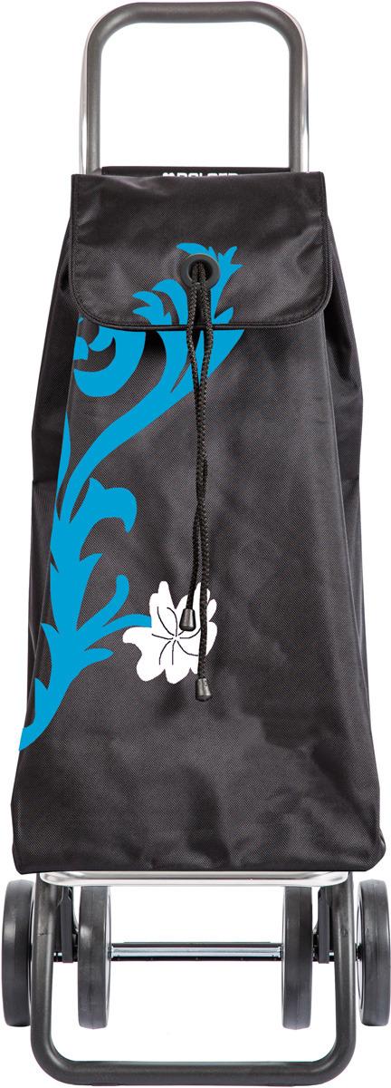 Сумка-тележка Rolser Dos+2, IMX008, черный, темно-голубой, 43 л чемодан тележка 72 см черный 2 колеса