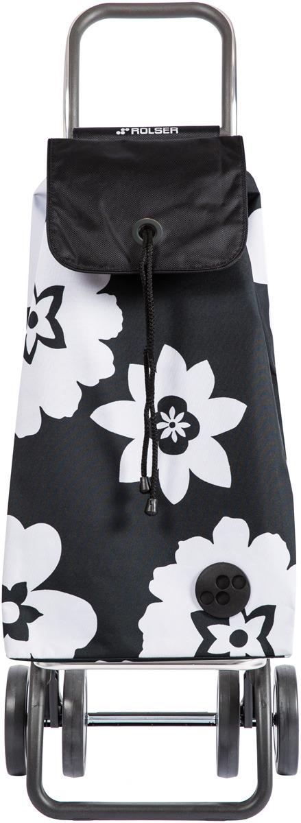 Сумка-тележка Rolser Dos+2, IMX020, черный, белый, 43 л чемодан тележка 72 см черный 2 колеса