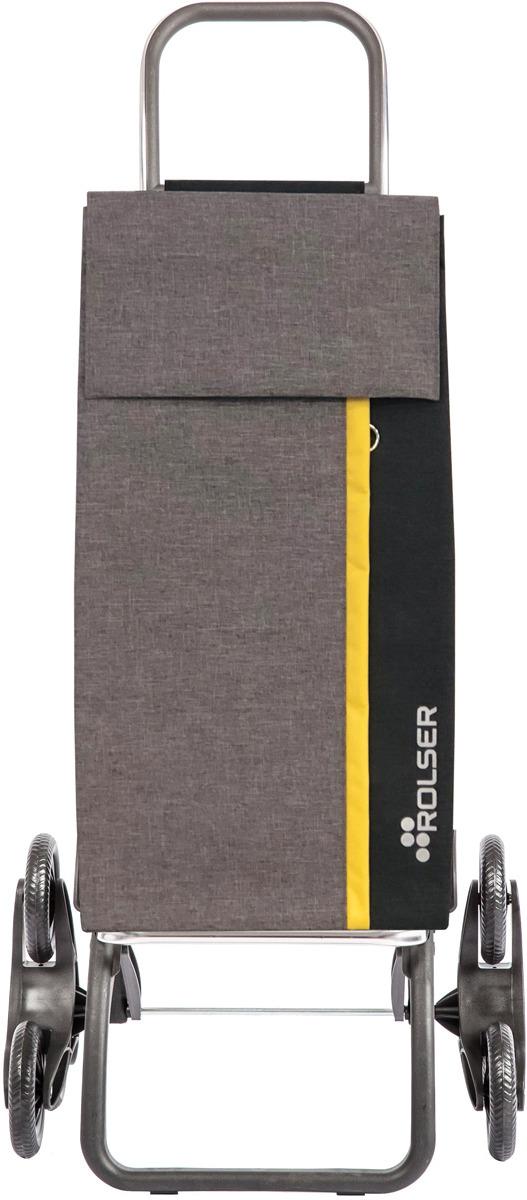 Сумка-тележка Rolser Logic Rd6, лAN007, 40 л серый, 40 лKAN007Алюминиевая тележка для покупок с 6 колесами, диаметр 12,2 см. Колеса снимаются. 2 типа сложения: двойное сложение рамы и передней подставки, занимает минимальное место в сложенном виде при хранении, имеет специальное устройство для прикрепления к тележке супермаркета. Сумка легко крепится к раме, объем сумки 43 л, рекомендованная нагрузка 25 кг, каркас алюминий, колеса резина EVA, ткань полиэстер, влагоустойчивая, чистка ручная или химчистка.