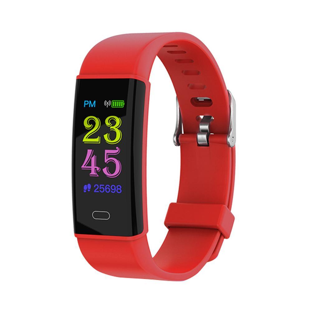 Фото - Q02 0.96 дюймовый дисплей Браслет для фитнеса с пульсометром Smart Band (красный) qq 30