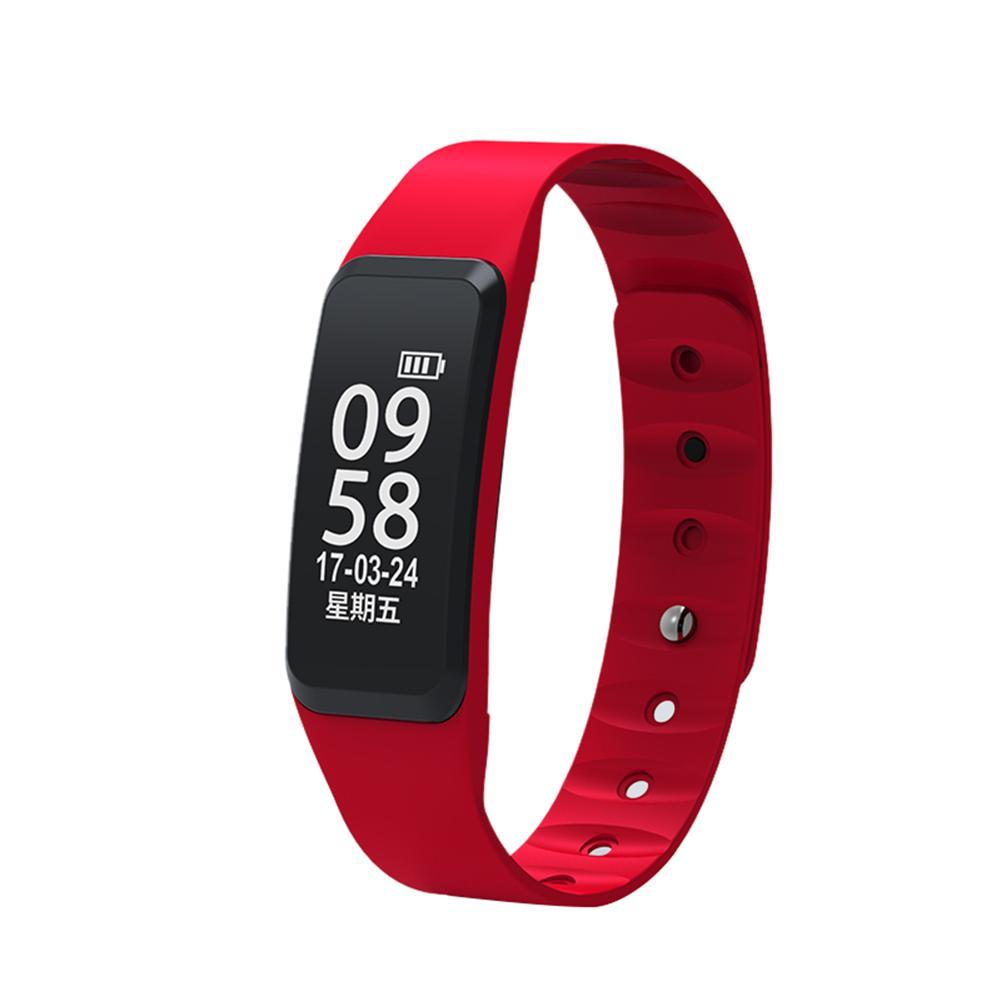 Dido F8 Монитор сердечного ритма артериального давления шагомер часы браслет (красный)