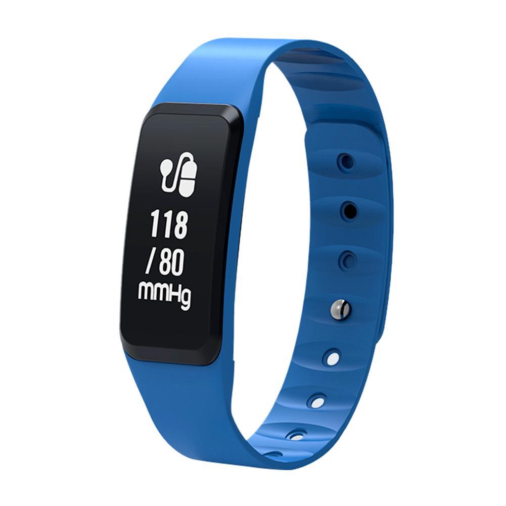 Dido F8 Монитор сердечного ритма артериального давления шагомер часы браслет (синий)