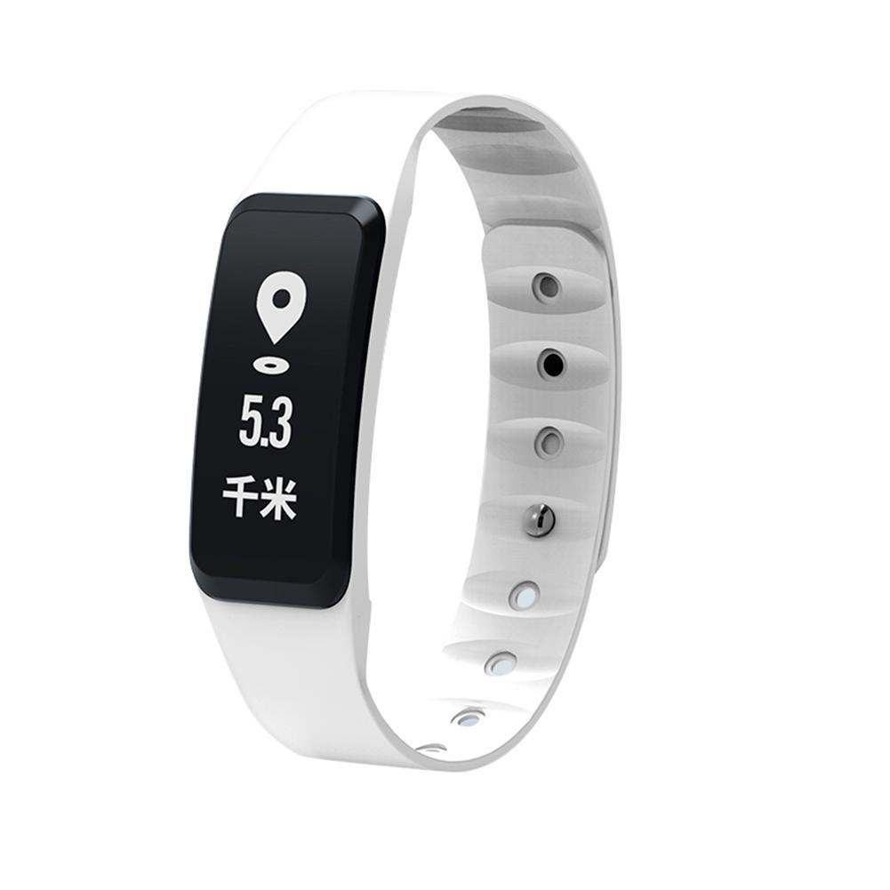 Dido F8 Монитор сердечного ритма артериального давления шагомер часы браслет (белый)