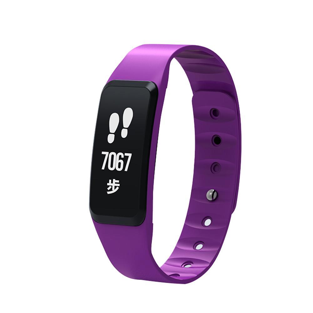 Dido F8 Монитор сердечного ритма артериального давления шагомер часы браслет (фиолетовый)