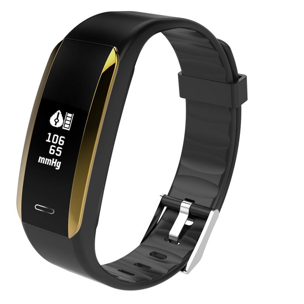 V07 Водонепроницаемый Bluetooth-монитор артериального давления сердечного ритма (черный) календарь apk