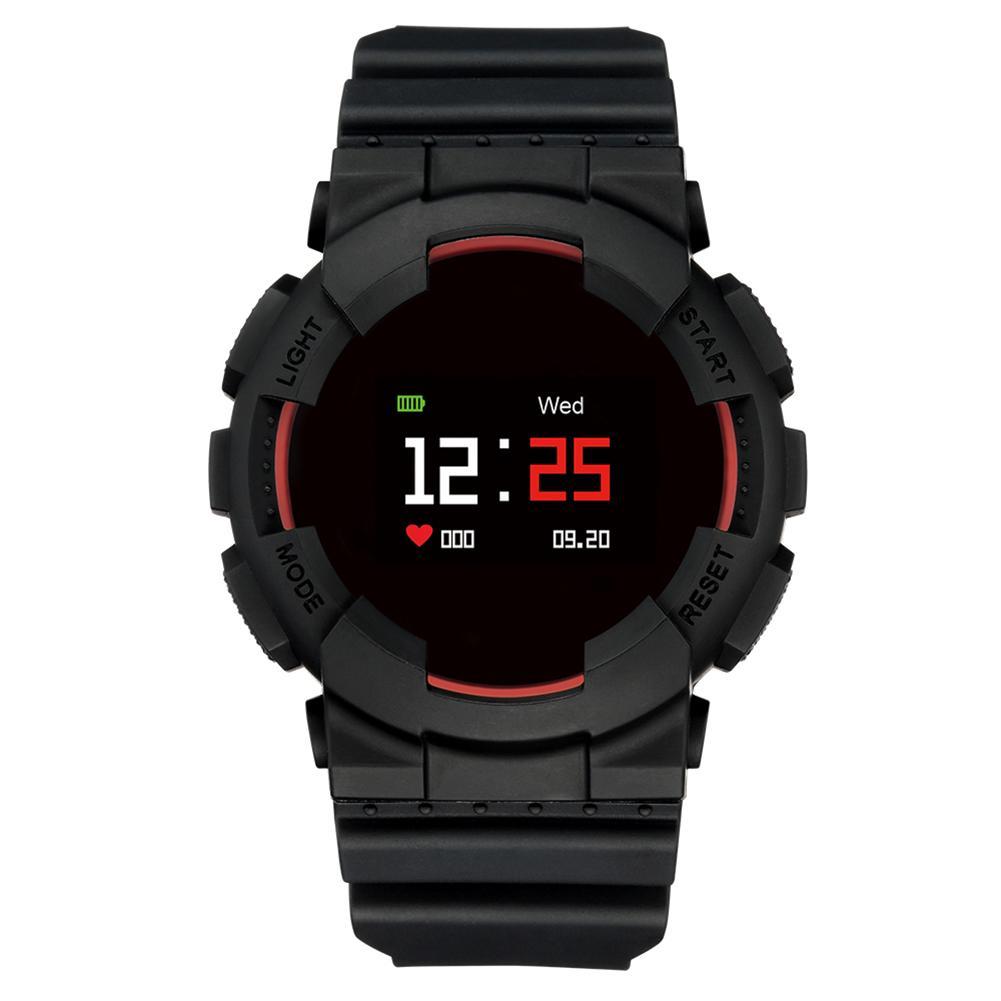 MX IP68 Водонепроницаемые часы с постоянным сердечным ритмом для измерения уровня кислорода в крови (красный)