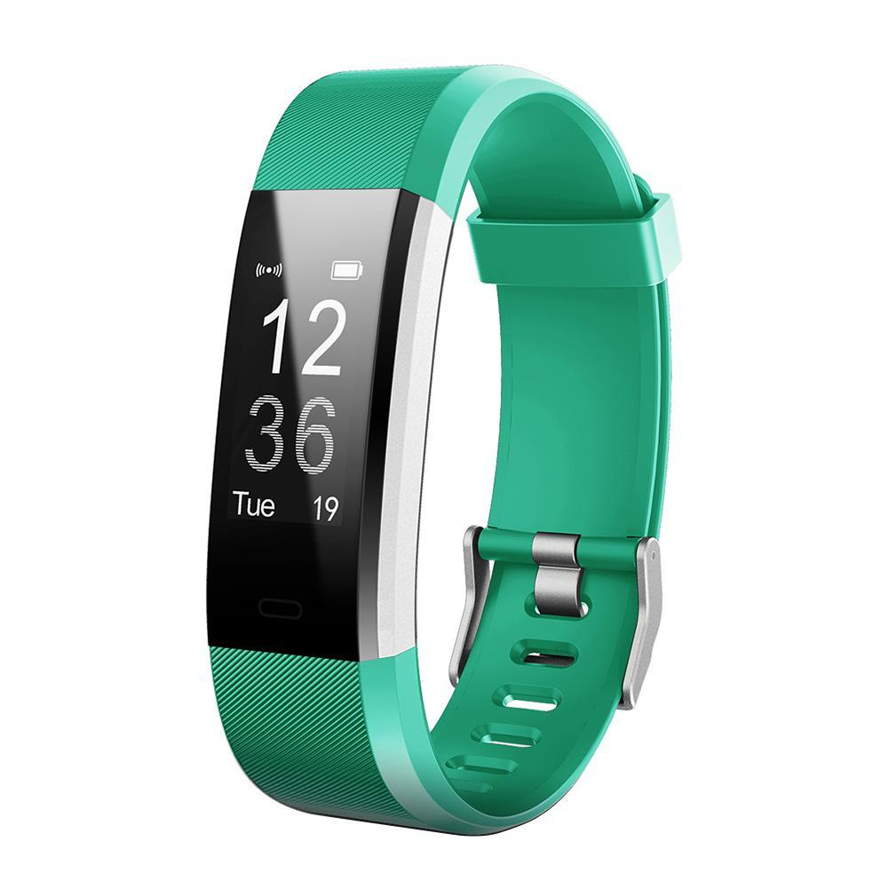 ID 115Plus HR Водонепроницаемый фитнес-трекер Smart Watch с треском 30m waterproof stainless steel band analog digital led quartz wrist watch silver 1 x 2035