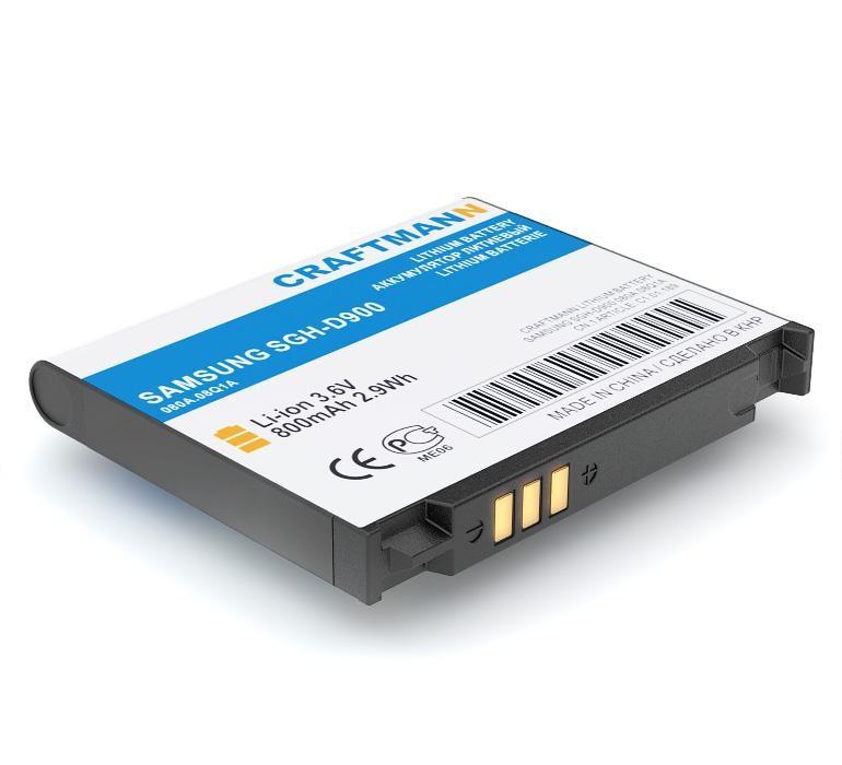 Аккумулятор для телефона Craftmann AB503442CE для SAMSUNG SGH-D900, A767, F480, F488. аккумулятор для телефона craftmann ab503442ce для samsung sgh d900 a767 f480 f488