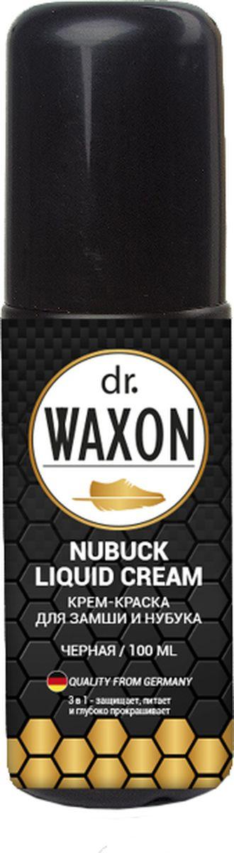 КРЕМ-КРАСКА для замши и нубука, черная, 100 мл Dr. Waxon Nubuck Liquid Cream ml