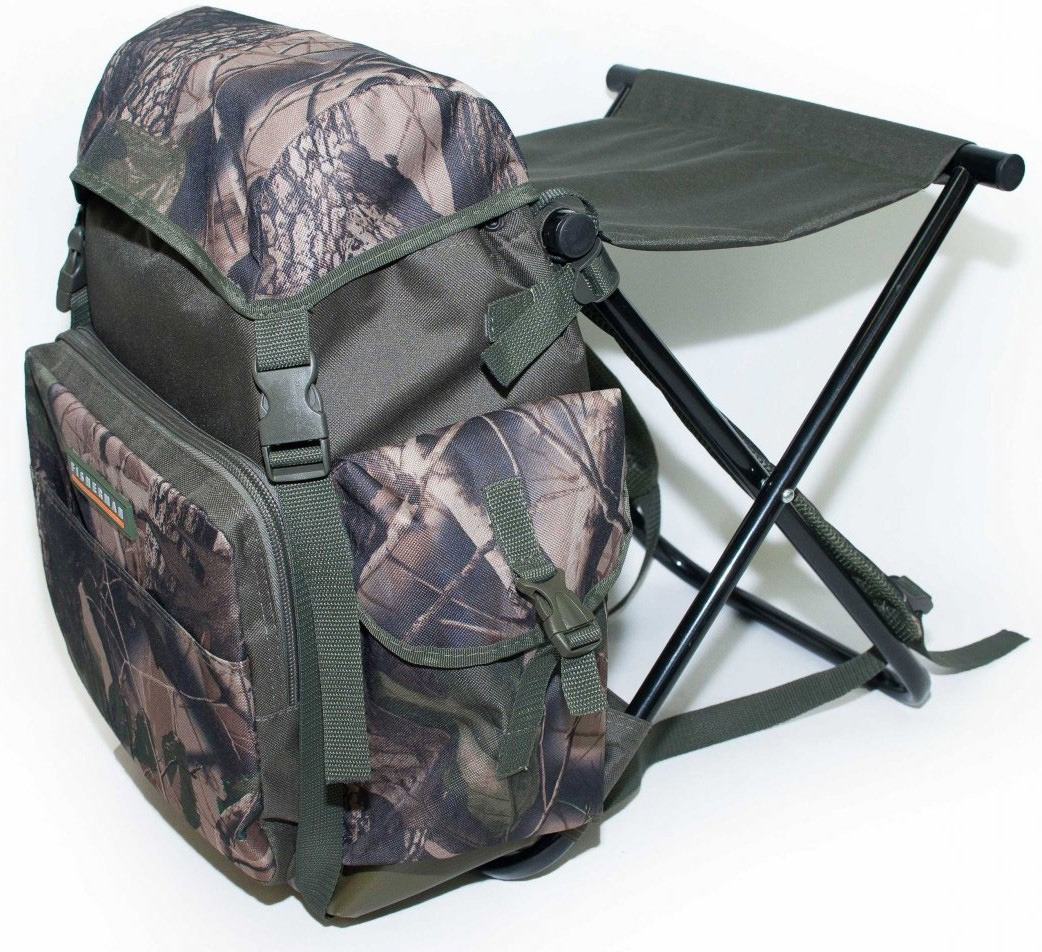 купить Рюкзак Fisherman, ф53, зеленый, со складным стулом недорого