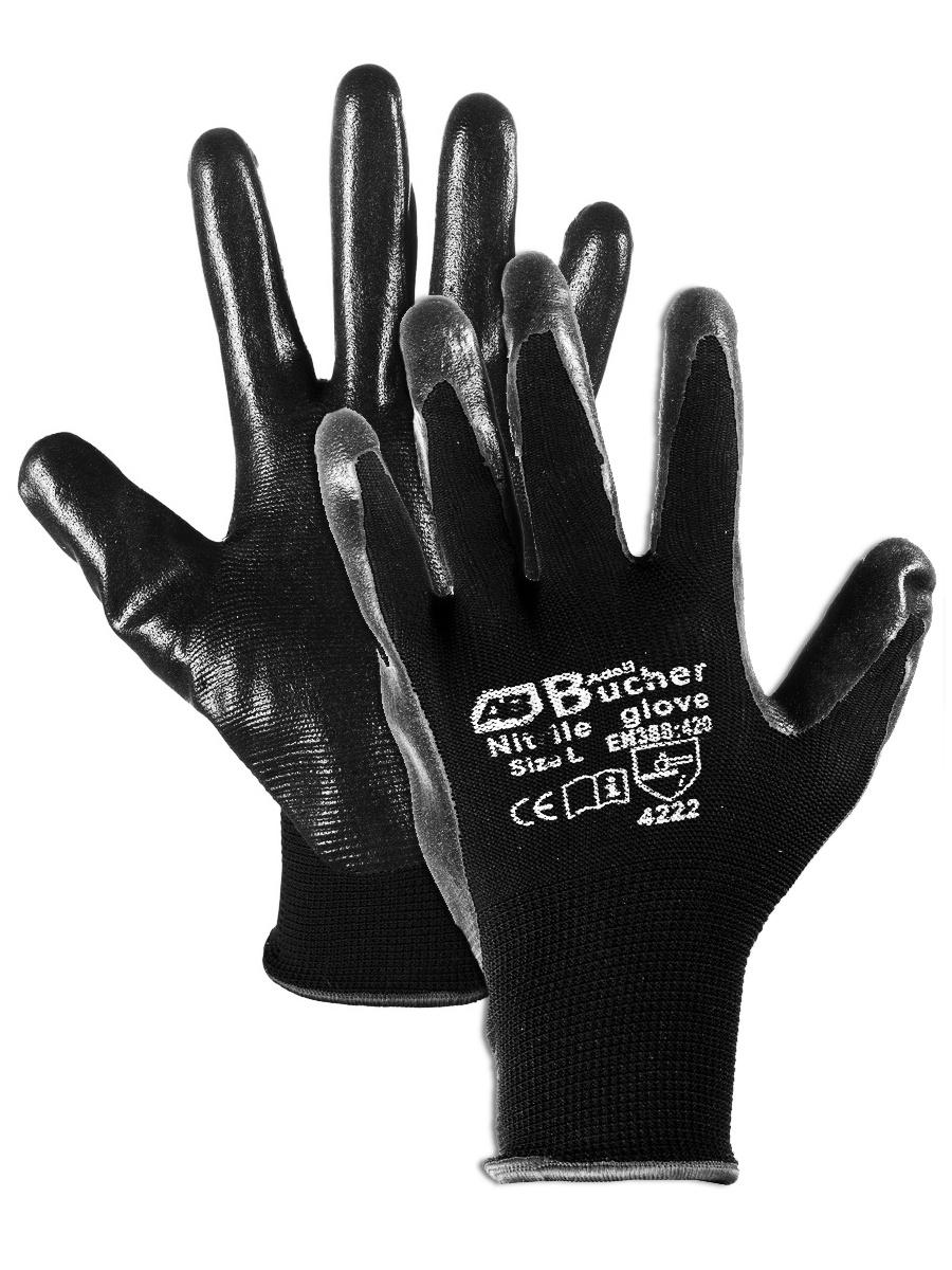 Перчатки хозяйственные Adolf Bucher 90.4000.10, черный