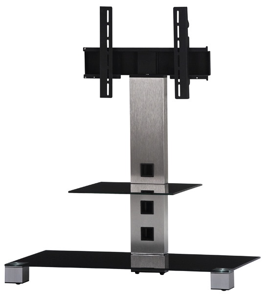 Стойка для ТВ Sonorous PL 2500 B-INXPL 2500 B-INXНадежная стойка под большие телевизоры с универсальным поворотным креплением из закаленного стекла с закругленными углами и полированной кромкой. . Поворотное крепление подходит для всех видов плоских телевизоров (LCD, LED и плазма) и имеет возможность регулировки высоты. В задней ножке расположен кабель-канал для маскировки проводов и кабелей. Оснащена скрытой роликовой системой для плавного перемещения ТВ стойки вместе с телевизором и другой аппаратурой. Стойка предназначена для телевизоров с диагональю 42-55 дюймов (весом до 40 кг). Крепление поддерживает форматы 20x20, 30x30, 40x40. Возможно оснащение увеличенным креплением (80x45)