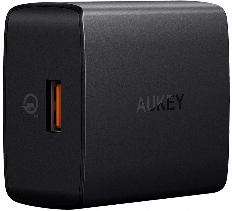 Зарядное устройство AUKEY USB Wall Charger PA-T17, черный aukey pa y2 travel wall charger usb type c quick charge 3 0 dual port