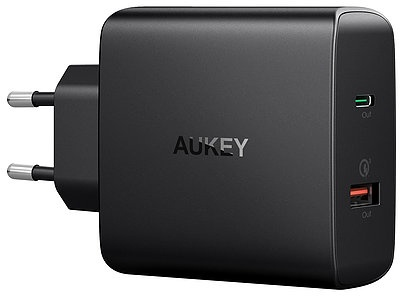 Фото - Зарядное устройство AUKEY Wall Charger PD/QC 3.0 USB-A/C PA-Y11, черный usb c pd3 0 charger power delivery qc 4 0 type c 4 port fast charger for new macbook samsung acer huawei nintendo lenovo