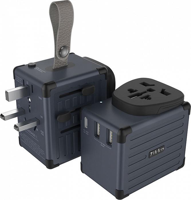 Зарядное устройство Zikko eLUGGAGE X Worldwide Travel Smart Adaptor EX300, черный зарядное устройство align t rex 100 s x