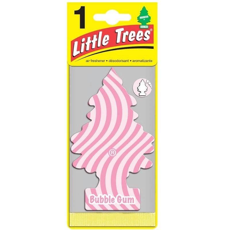 Автомобильный ароматизатор Car-Freshner Little Trees, бабл гам, США автомобильный ароматизатор car freshner little trees зеленое яблоко сша