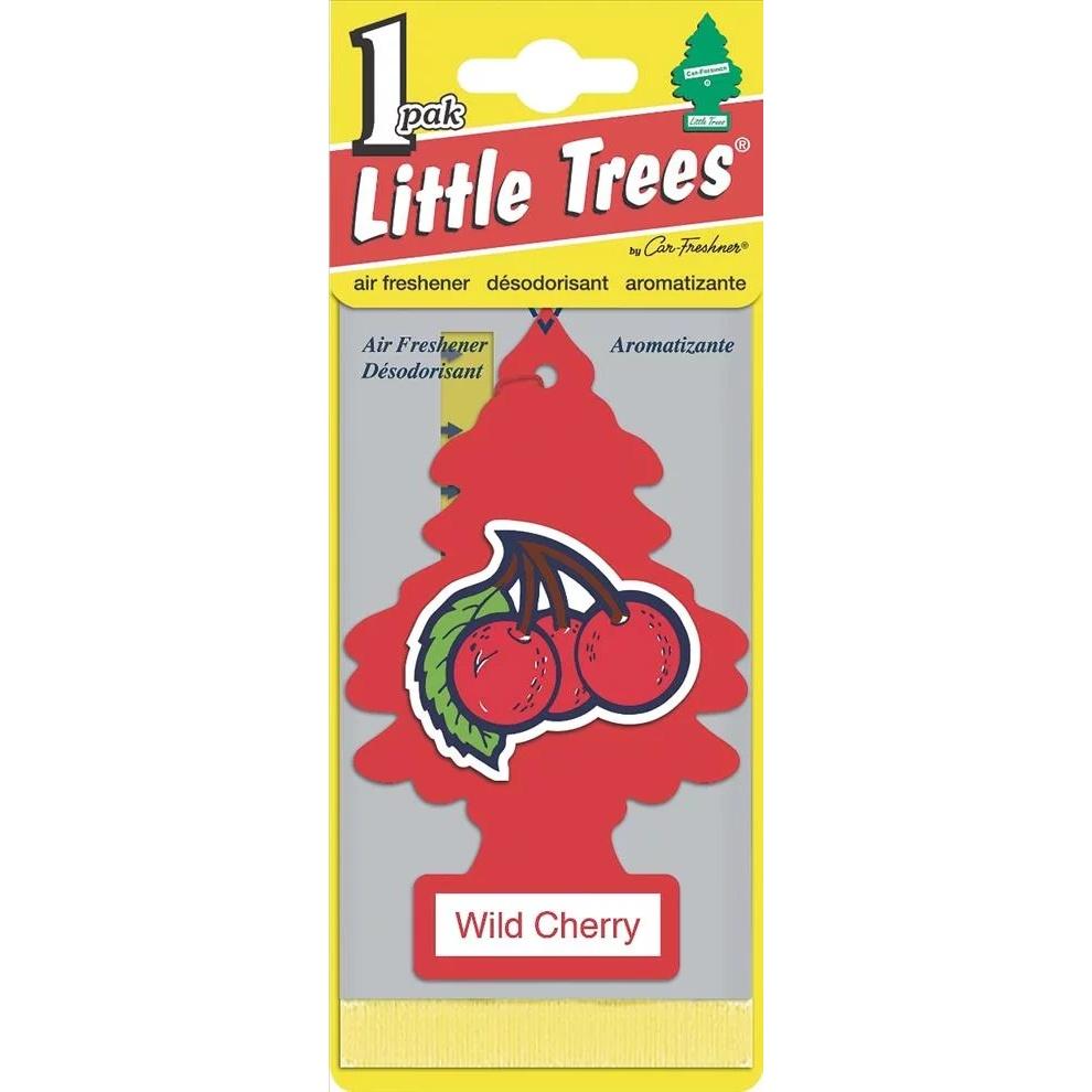 Автомобильный ароматизатор Car-Freshner Little Trees, дикая вишня, США ароматизатор car freshner mixed naturals лайм с лимоном