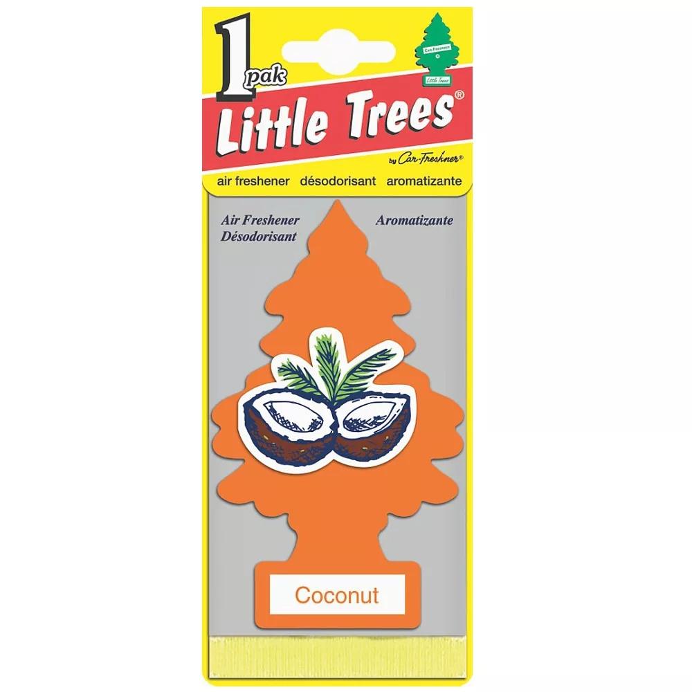 Автомобильный ароматизатор Car-Freshner Little Trees, кокос, США автомобильный ароматизатор car freshner little trees зеленое яблоко сша