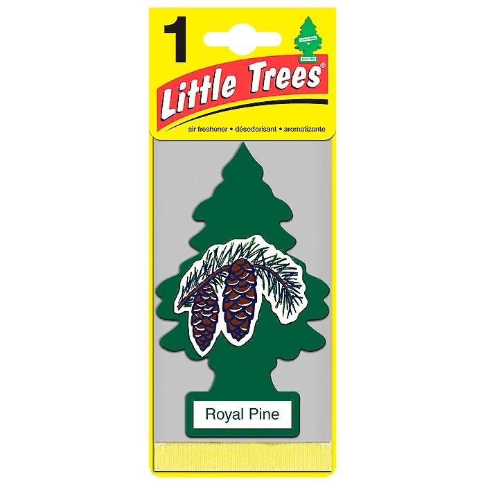 Автомобильный ароматизатор Car-Freshner Little Trees, королевская сосна, США автомобильный ароматизатор car freshner little trees зеленое яблоко сша